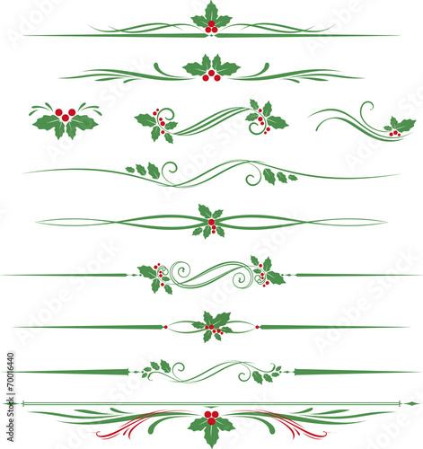 Holly Scroll Set