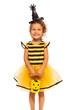 Obrazy na płótnie, fototapety, zdjęcia, fotoobrazy drukowane : Girl in Halloween bee stripped costume