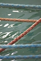 Ropes to the boat