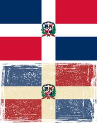 Dominican Republic grunge flag. Vector