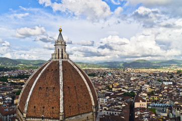 View of Florence from a dome of Santa Maria cathedral, Tuscany