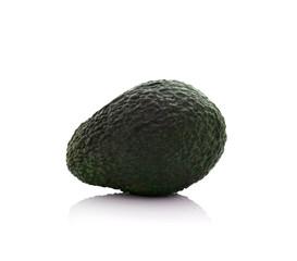 Avocado fruit on white.
