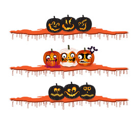 halloween pumpkins design elements