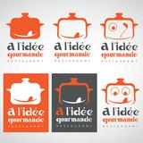 restaurant marmite humour gourmand cuisine logo