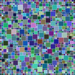 Multicolor square mosaic background