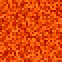 Orange pixel design wallpaper