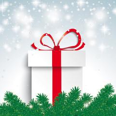Snow Light Fir Branch Gift
