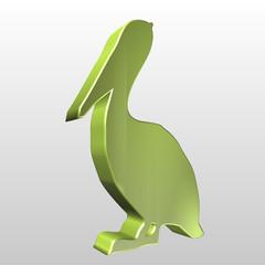 Logo 3D pellicano