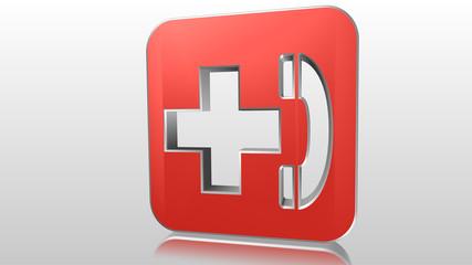 Logo 3D telefono soccorso