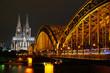canvas print picture - Köln bei Nacht