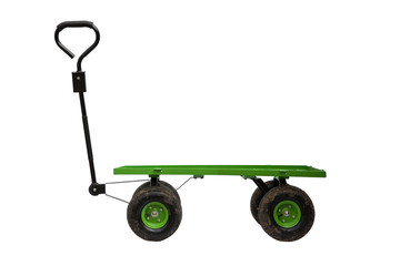 Four wheel trolley isolated