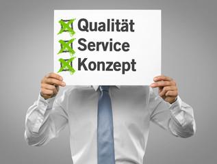 Qualität / Service / Konzept
