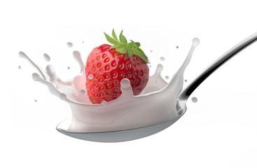 Erdbeere auf Löffel