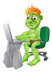 Internet troll concept