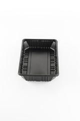 black plastic tray