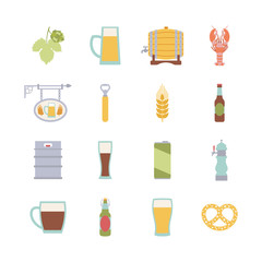 round design element with beer icons