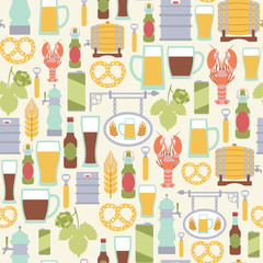 seamless pattern with beer icons