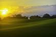 canvas print picture - Golf Sunrise