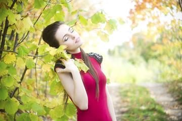 Summer beauty girl portrait