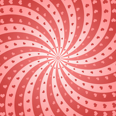 Vector Swirl heart background