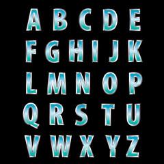 steel blue letters