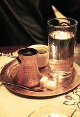 Turkish tea and coffee on the table