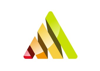 Triangle,corporate,logo,elements,business,shape,finance,house
