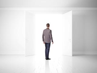 Man found exit