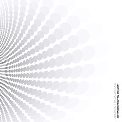 Dotted perspective lines, abstract gray & white background