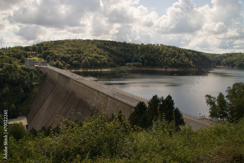 Staande foto Dam Rappbodetalsperre im Harz