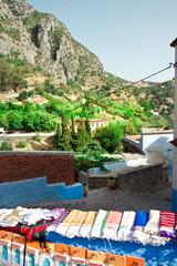 Tissue en vente à Chefchaouen  - Nord du Maroc