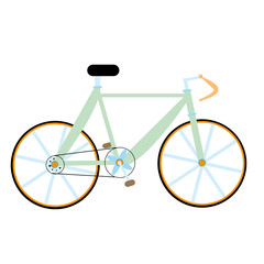 vector green bike isolated
