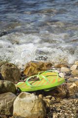 Flip flop on the beach