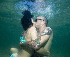 Bacio sott'acqua