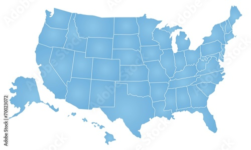 United States of America map - 70023072
