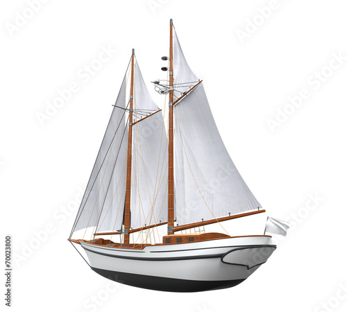 Staande foto Zeilen Sail Ship Isolated