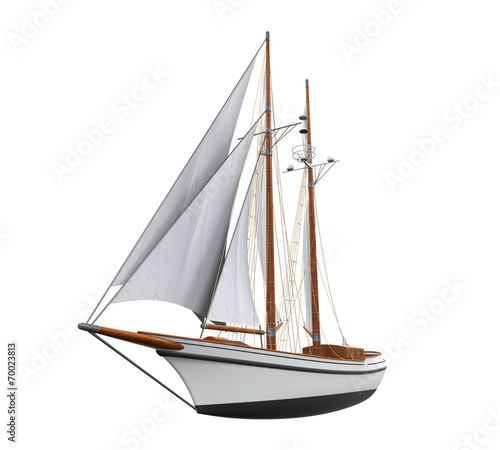 Sail Ship Isolated - 70023813