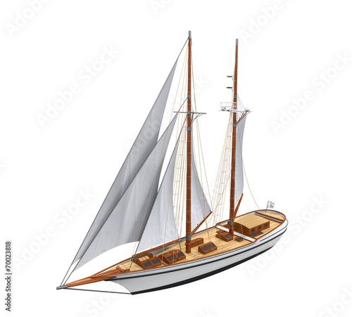 Sail Ship Isolated - 70023818