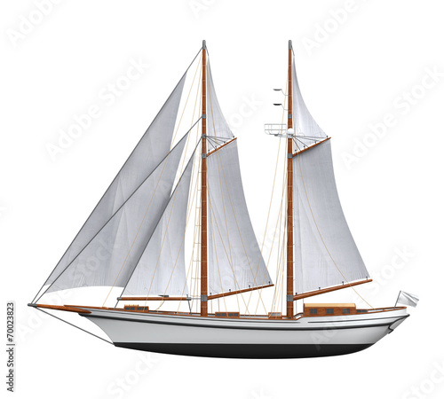 Sail Ship Isolated - 70023823