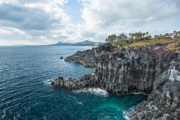 Jeju do Island seashore Jusangjeollidae, South Korea