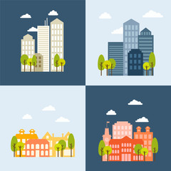 Vector Illustration, Flat urban landscape concept