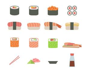 set of sushi icon