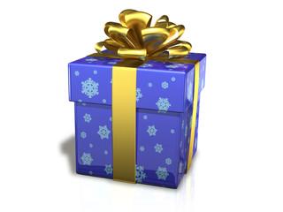 gift box blue