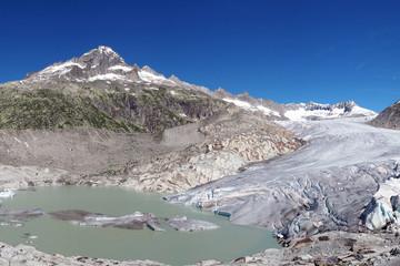 Rhone glacier, Swiss beauty, Switzerland, mountains lake