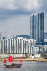 Kowloon skyline waterfront Hong Kong