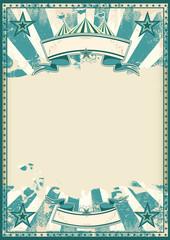 Blue circus retro poster