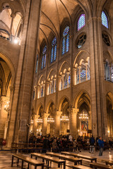 Notre Dame de Paris. Interrior.
