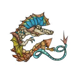 Dragon on white background
