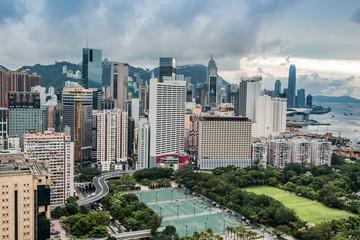 cityscape Victoria Park Causeway Bay Hong Kong