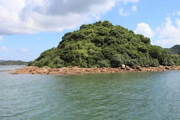 beautiful green island in Saikung, Hong Kong